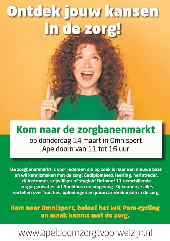 Riwis op zorgbanenmarkt in Omnisport Apeldoorn