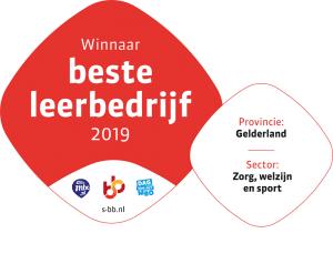 Riwis Zorg & Welzijn wint verkiezing beste leerbedrijf 2019 van de provincie Gelderland in de sector zorg, welzijn en sport 2